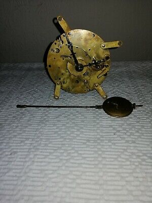 Antique HAC Clock Movement and Pendulum,, Sold For Parts.
