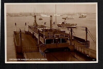Portsmouth - Harbour & Floating Bridge - real photographic postcard