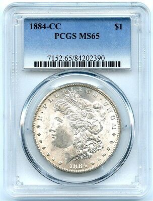 1884-CC Morgan Silver Dollar PCGS MS-65, Nice Toning, Flashy Rare Carson City!