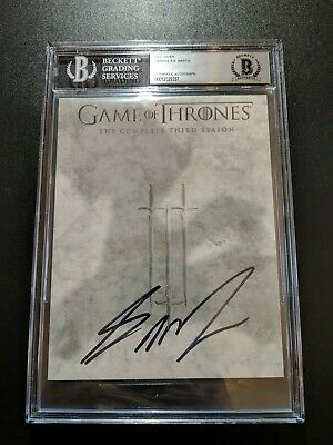 George RR Martin Signed Game Of Thrones DVD Cover 3rd Season Beckett...