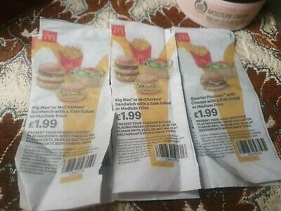 Mcdonalds Meal vouchers