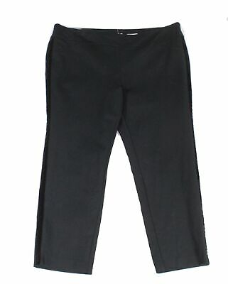 Charter Club Women's Pants Black Size 26W Plus Slim Pull-On Stretch $79- #310