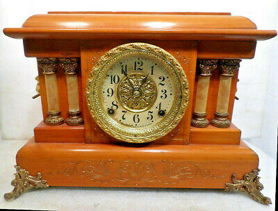 Spectacular Seth Thomas Adamantine Striking Column Mantle Clock--Circa 1885