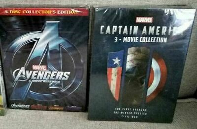 Marvel DVD Lot - Avengers 4 Movie Collection & Captain America