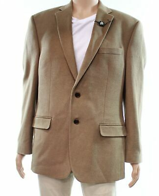 Lauren by Ralph Lauren Mens Suit Jacket Beige Size 44 Two Button Wool $450 #001