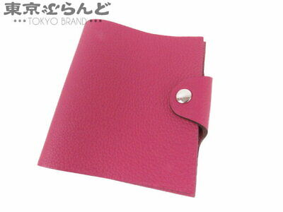 Hermes Ulysse Mini Notebook Cover Notes Togo Rose Purple A Engraving Second