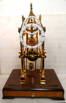 Stunning Precision Chain Fusee Skeleton Clock--Double Made Dial With Sub Seconds