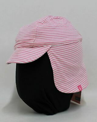 NEW JOULES Baby Girls Pink Cotton Blend Striped Reversible Sun Hat 0-6 Month