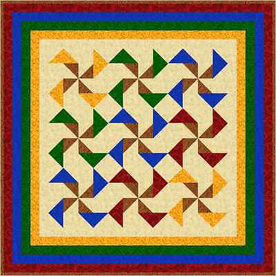 """WHIRLY GIG - 46"""" - Pre-cut Patchwork Quilt Kit by Quilt-Addicts Lap"""