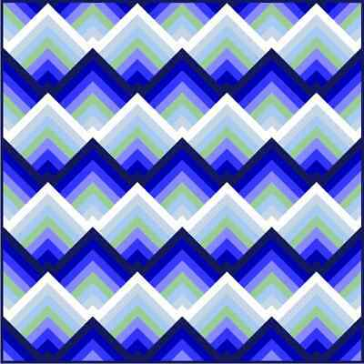 """RATIONLITY - 69"""" - Blue - Pre-cut Patchwork Quilt Kit by Quilt-Addicts Dble"""