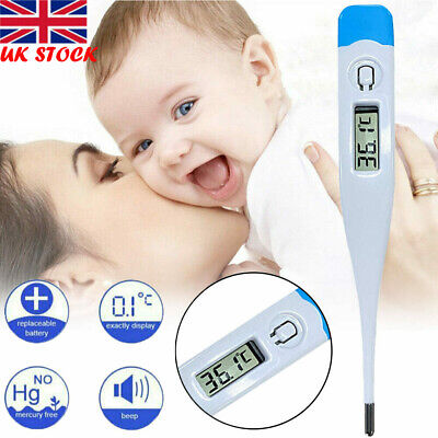 Medical LCD Thermometer Digital Fever Alarm Mouth Underarm Test Temperature Kids