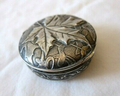Art Nouveau French Silver Hallmarked Compact/42grms