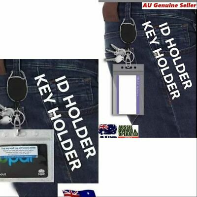 Retractable lanyard nurse id badge opal card holder business security pass