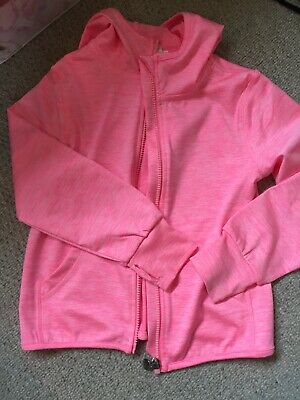 H&M Girls Pink Sports Hooded Zip Up Jacket - Age 4-6