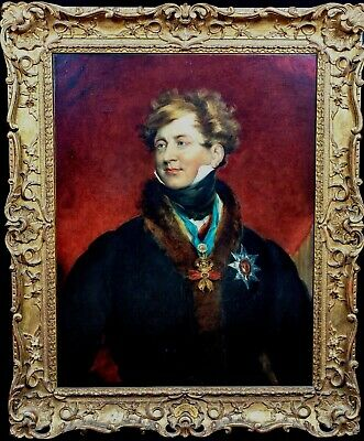 Large 19th Century English Portrait of King George IV Sir Thomas LAWRENCE