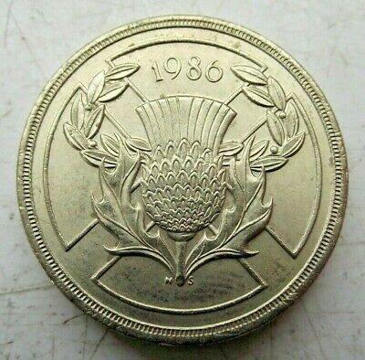 1986 Two £2 Pound Coin Scottish Thistle Commonwealth Games Great Britain C Pics