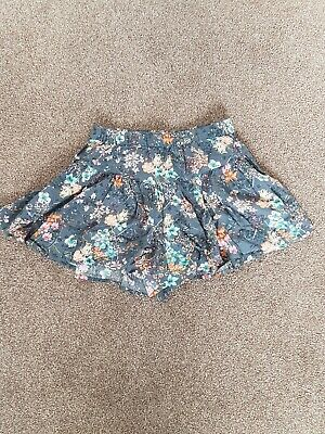 Girls NEXT Skort On Grey With Floral Pattern. Age 10 BNWOT