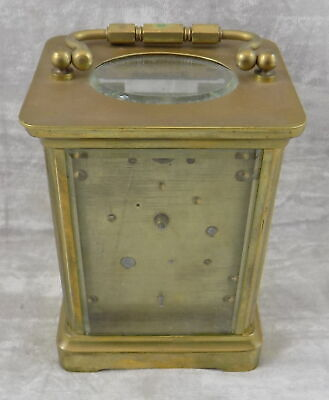 Antique French Carriage Clock With Alarm - Spares Or Repair