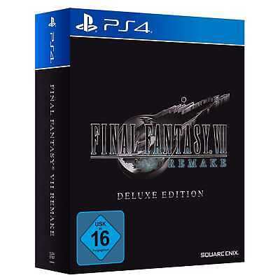 Final Fantasy VII 7 HD Remake Deluxe Edition Sony PS4 (Pro) Rollenspiel NEU&OVP