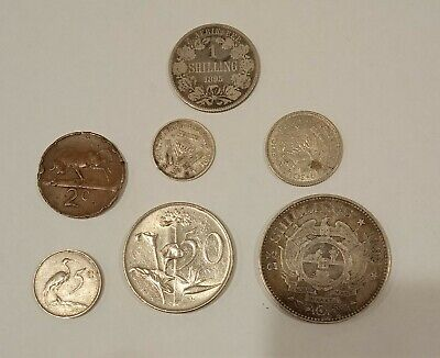 Various South African Coins