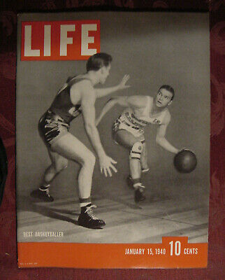 LIFE January 15 1940 Ralph Vaughn Basketball Frederic Taubes Inland Waterway