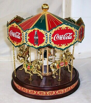 1997 Franklin Mint Coca Cola Collector Edition Musical Carousel