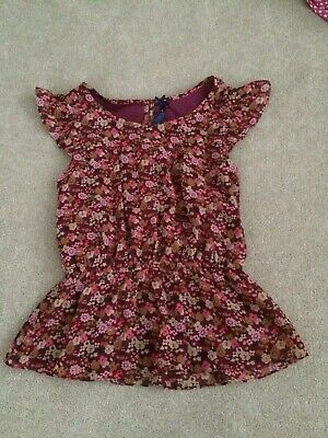 Next Girls Lined Gypsy Floral Summer Top Age 12 Years