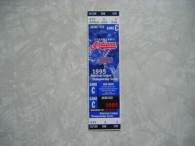 1995 ALCS Full Ticket Cleveland Indians vs Seattle Mariners ~ Game C