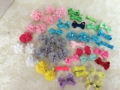 45pcs Boutique 2 Inch Hair Bows Fully Lined Clips for Baby Girls Toddler Infants