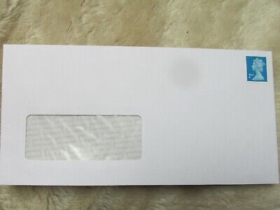 25 PRE-STAMPED  DL WINDOW PEEL & SEAL ENVELOPES WITH  2nd CLASS BLUE STAMPS