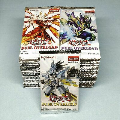 72x Yugioh Duel Overload DUOV 1st Ed Booster Packs Case Untampered = 1 Case