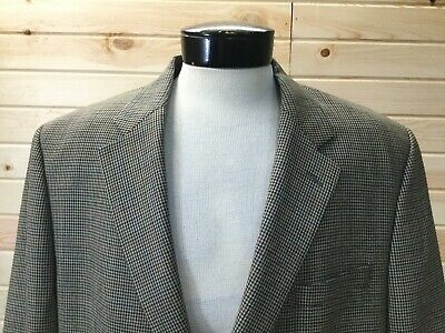 Polo Ralph Lauren Blazer 2-Button Sport Coat Gray 46R Multi-color Houndstooth