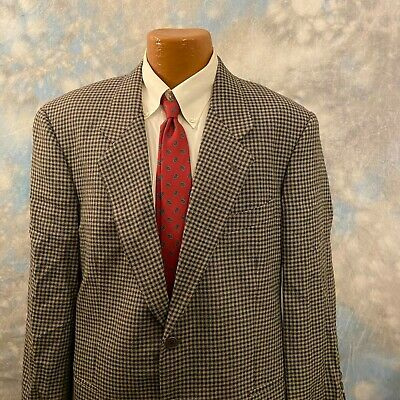 Mani 42 R Gray Houndstooth Wool Two Button Men's Coat Blazer ITALY