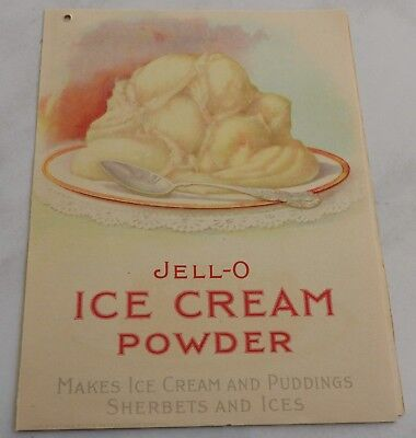 antique JELLO ICE CREAM POWDER recipe pamphlet