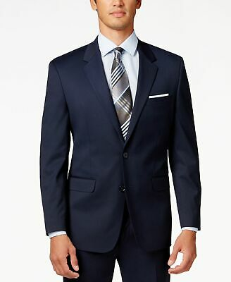 Alfani NEW Blue Mens Size 40 Long Regular Fit Two Button Blazer $360 #301