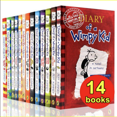 Diary Of A Wimpy Kid Collection 🔥 14 Books 🔥 Set By Jeff Kinney ‮ ‮ FDP ✅ �