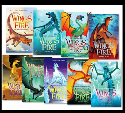 Wings of Fire 1-12 Books Set By Tui T. Sutherland ‮ ‮ FDP ✅ �