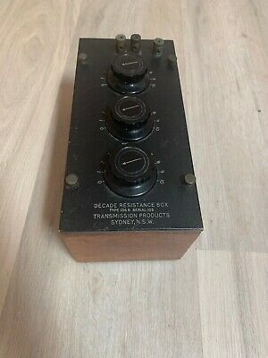 Vintage Decade Resistance Box Type 136B (Transmission Products NSW)