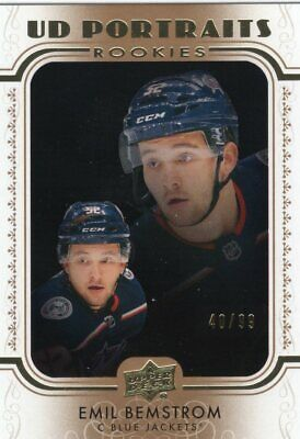 19-20 Upper Deck Series 2 Gold Portraits Emil Bemstrom /99