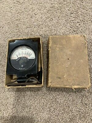 Vintage Radio Voltmeter In Original Cardboard Box