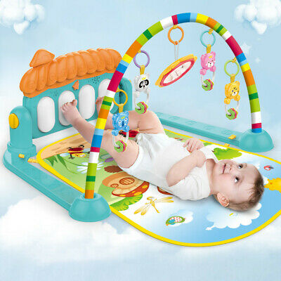 Soft Baby Gym Floor Play Mat Musical Activity Center Kick And Play Piano Toy US