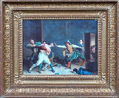 19th Century French Interior Scene The Brawl Ernest MEISSONIER (1815-1891)