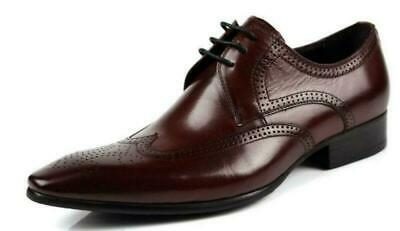 Luxury 2020 new Wing Tip Brogue Dress Leather Mens Wedding Shoes Lace up Sz