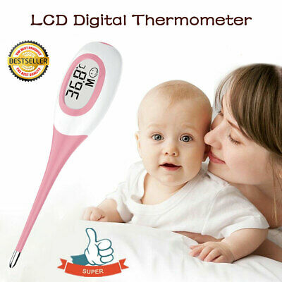 LCD Digital Thermometer Medical Baby Adult Body Kids Underarm Mouth Temperature