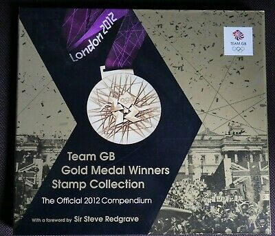 2012 Olympic Gold Medal Team Gb Winners Royal Mail Stamp Collection Compendium
