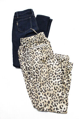 Chaser Paige Womens Skinny Jeans Animal Print Pants Size 27 Medium Lot 2
