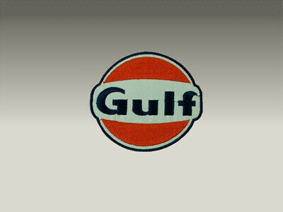 Gulf N° 2  Patch Toppe Ricamate Termoadesive 8X8Cm