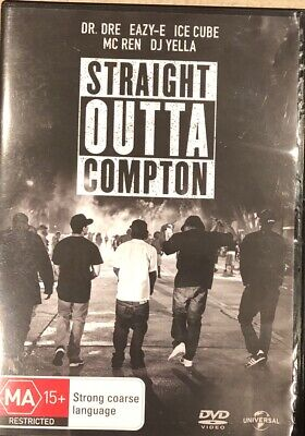 Straight Outta Compton – Dvd - R-2+4+5, Good Condition, Free Post