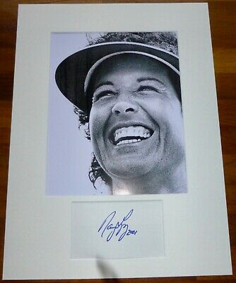 NANCY LOPEZ-A Hand Signed Card is Presented With A Photo-Mounted & Matted,COA