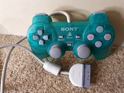 Playstation 1 - Official Sony Transparent Green Analog Controller - VGC